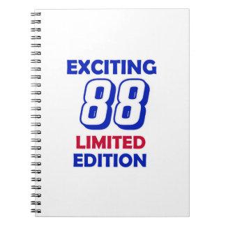 88 Birthday Design Notebook