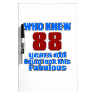 88 Birthday designs Dry-Erase Whiteboard