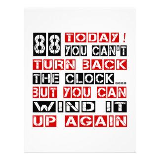 88 Birthday Designs Letterhead