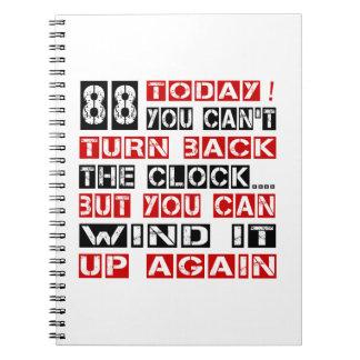 88 Birthday Designs Spiral Note Book