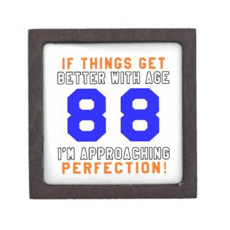 88 diseños del cumpleaños de la perfección caja de joyas de calidad