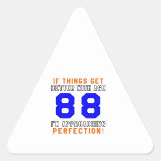 88 diseños del cumpleaños de la perfección calcomanías trianguladas personalizadas