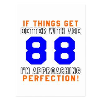 88 diseños del cumpleaños de la perfección postales