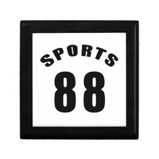 88 diseños del cumpleaños de los deportes cajas de joyas
