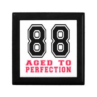 88 envejecido a la perfección caja de joyas