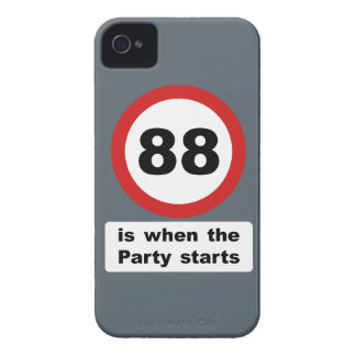 88 es cuando el fiesta comienza Case-Mate iPhone 4 protectores