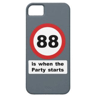 88 es cuando el fiesta comienza iPhone 5 funda