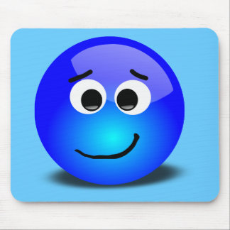 88-Free-3D-Apprehensive-Smiley-Face-Clipart-Illust Mouse Pad