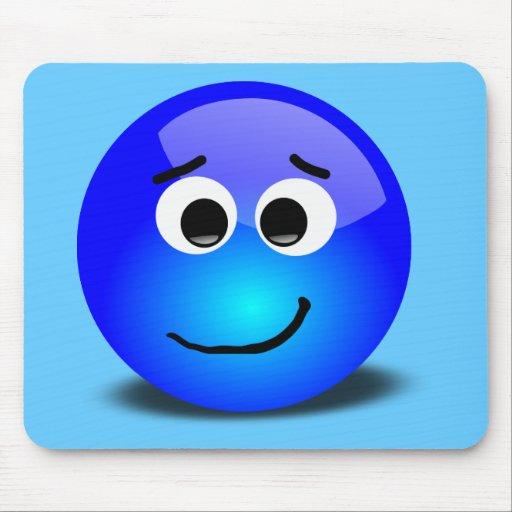 88-Free-3D-Apprehensive-Smiley-Face-Clipart-Illust Mouse Pad