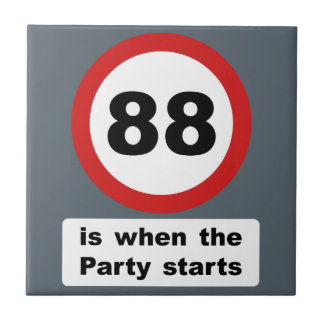 88 is when the Party Starts Tile