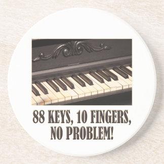 88 Keys, 10 Fingers, No Problem! Drink Coaster