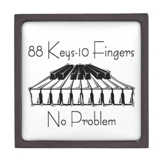 88 Keys 10 Fingers, No Problem Gifts Jewelry Box