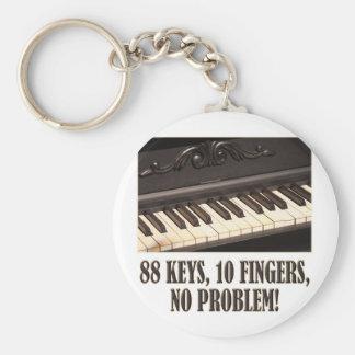 88 Keys, 10 Fingers, No Problem! Key Chain