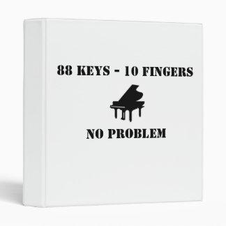 88 Keys - 10 Fingers No problem Notebook Binder