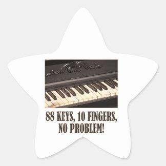 88 Keys, 10 Fingers, No Problem! Star Sticker