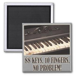 88 Keys 2 Inch Square Magnet