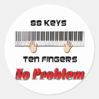 88 Keys Classic Round Sticker