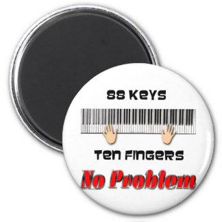 88 Keys Ten Fingers 2 Inch Round Magnet