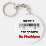88 Keys Ten Fingers Key Chain