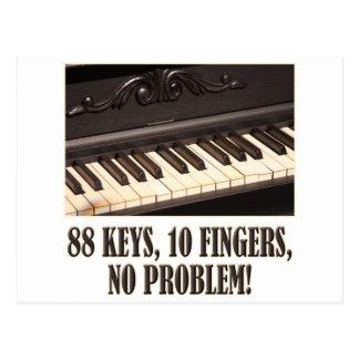 ¡88 llaves, 10 dedos, ningún problema! postal