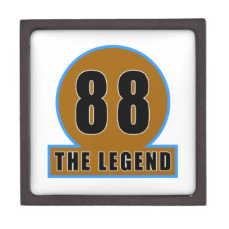 88 los diseños del cumpleaños de la leyenda caja de regalo de calidad