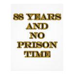 88 ninguna hora de prisión membrete a diseño