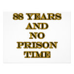 88 No prison time Personalized Announcement