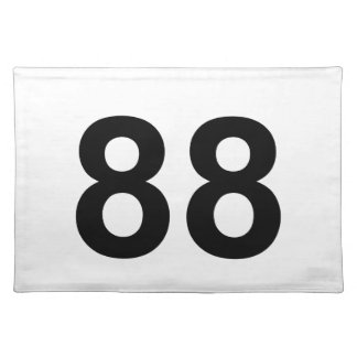 88 - number eighty-eight cloth placemat