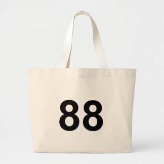 88 - number eighty-eight large tote bag