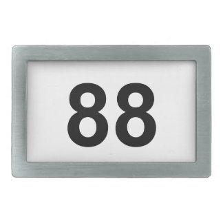88 - number eighty-eight rectangular belt buckle