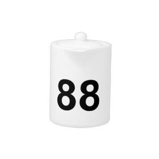 88 - number eighty-eight teapot