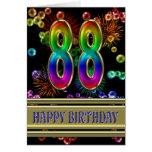 88.o Cumpleaños con las burbujas y los fuegos arti Felicitación