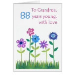 88.o Tarjeta de cumpleaños para una abuela - flore