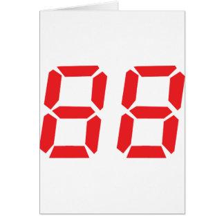 88 ochenta y ocho números digitales del despertado tarjeta de felicitación