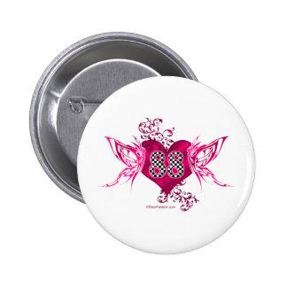 88 racing number butterflies pinback button