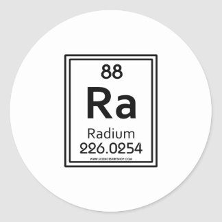 88 Radium Classic Round Sticker