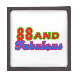 88 y diseños fabulosos del cumpleaños caja de recuerdo de calidad
