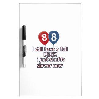 88 year funny birthday designs Dry-Erase board