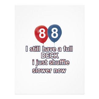 88 year funny birthday designs letterhead