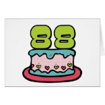 88 Year Old Birthday Cake Greeting Card