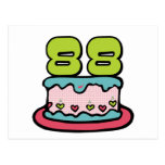 88 Year Old Birthday Cake Postcard