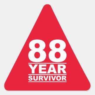 88 year survivor triangle sticker
