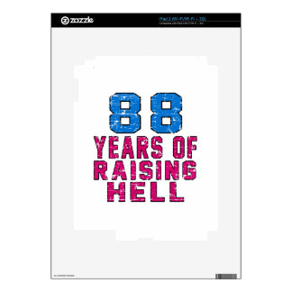 88 Years of raising hell Decals For The iPad 2
