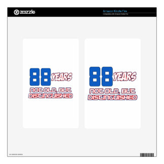 88 YEARS OLD BIRTHDAY DESIGNS DECALS FOR KINDLE FIRE