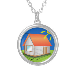 88House_rasterized Silver Plated Necklace
