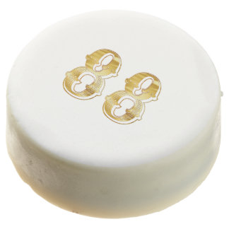 88th Anniversary 88 Birthday Gold White Cookie