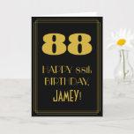 "[ Thumbnail: 88th Birthday ~ Art Deco Inspired Look ""88"" & Name Card ]"
