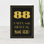 "[ Thumbnail: 88th Birthday – Art Deco Inspired Look ""88"" & Name Card ]"