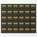 """[ Thumbnail: 88th Birthday – Art Deco Inspired Look """"88"""" & Name Wrapping Paper ]"""