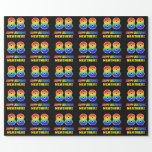 [ Thumbnail: 88th Birthday: Bold, Fun, Simple, Rainbow 88 Wrapping Paper ]